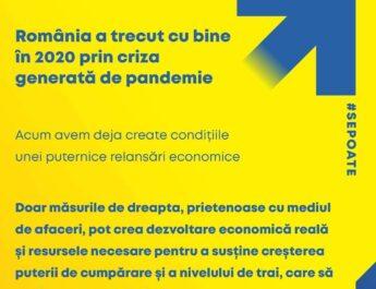 Economia va crește real și sustenabil, cu beneficii concrete pentru români, prin măsuri de dreapta