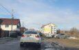 Strada Unirii, blocată de maşini şi plină de gropi